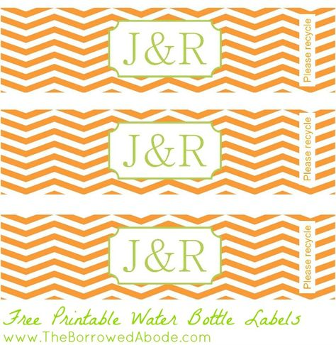 Free Printable Water Bottle Labels   The Borrowed Abode