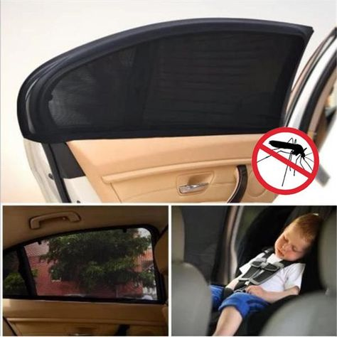 UK 2x Car Rear Window Sun UV Blocker Cover Seat Shade Sunshine Mesh Blind M//L//XL
