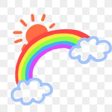 Rainbow Sun Clouds Sunny Day Rainbow Png Transparent Clipart Image And Psd File For Free Download Rainbow Png Sun And Clouds Rainbow Design