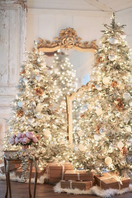 Modern French Christmas Classic Everything Dreamy And Magical Visit Me Thecultivatedhome On Instagram Decor Christmas Home Home Decor