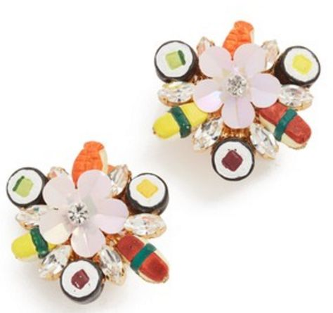 Sushi Platter Clip On Earrings