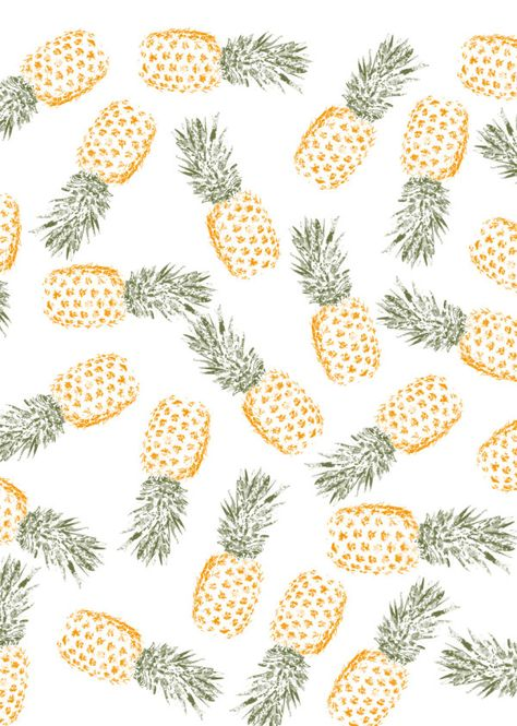 Displate Poster pineapple party pineapples #pattern #color #spring #summer #fresh #cute #fruit #fruity