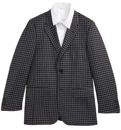 Plaid Formal Suit Jacket Boys Sport Coat Blazer
