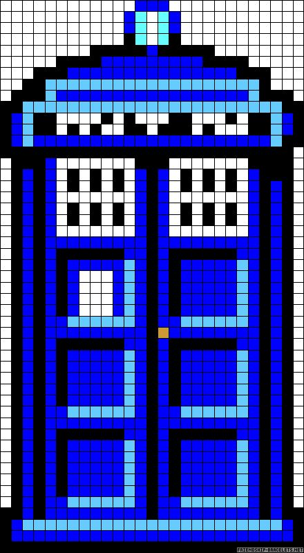 Pixel art on pinterest minecraft pixel art perler beads for Tardis template for cake