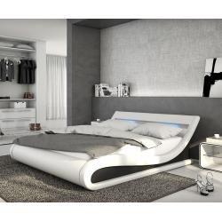 Delife Polsterbett Belana 140x200 Cm Weiss Schwarz Mit Led Polsterbetten Delifedelife Betten Kaufen Bett Modern Polsterbett