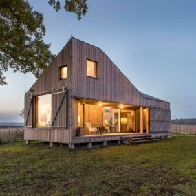 Low Energy Wooden House In 2020 Small House Cost House Cost Wooden House Design