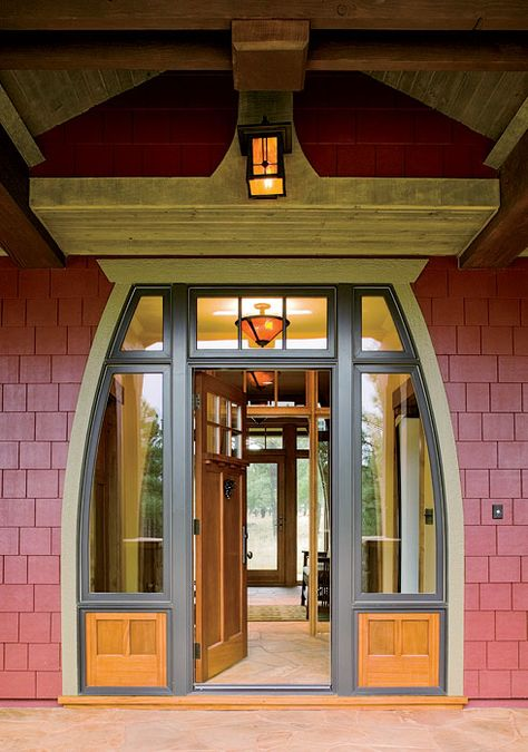 Craftsman bungalow on pinterest craftsman bungalows for Arts and crafts style front door
