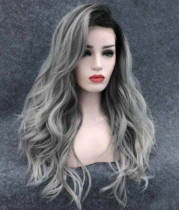 Celestial Rose Loose Curl Version Uniwigs Official Site Best Human Hair Wigs Grey Wig Grey Hair Color