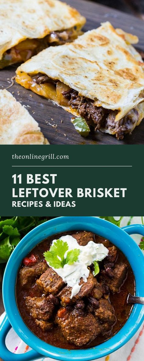 Check out these best leftover brisket recipes and ideas from around the web. Including brisket tacos, brisket soup, brisket sandwiches, and more! These leftover brisket ideas prove that BBQ beef reigns supreme when it comes to outdoor cooking and smoking recipes.
