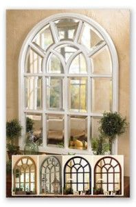 White washed metal wall panel mirror on hautelook my dream home vintage window mirror ppazfo