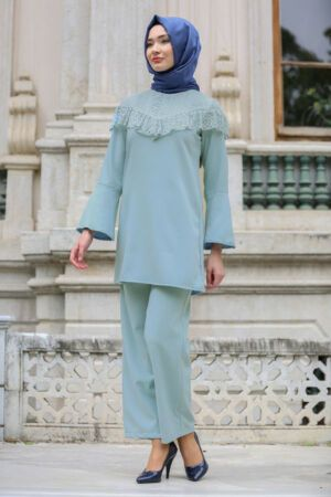 Chic Volan Kol Tunik Pantolon Tak M Clothing From Top Store Clothes Suits Hijab