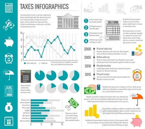 Tax Infographics Set — Vector EPS #abstract #building • Available here → https://graphicriver.net/item/tax-infographics-set/9684321?ref=pxcr
