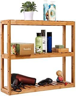 Bathroom Shelf 3 Tier Wall Mount Shelf Living Room Kitchen