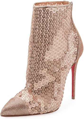 8bc3bdc330c Gipsybootie Sequined Red Sole Ankle Boot Christian Louboutin Gipsy ...