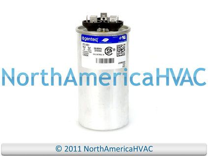 This Is A Brand New Ge Genteq Dual Run Air Conditioning Heat Pump Capacitor The Capacitor Is Round And Rated At 50 5 Mfd At 370 Vo Capacitors Ebay Glassware