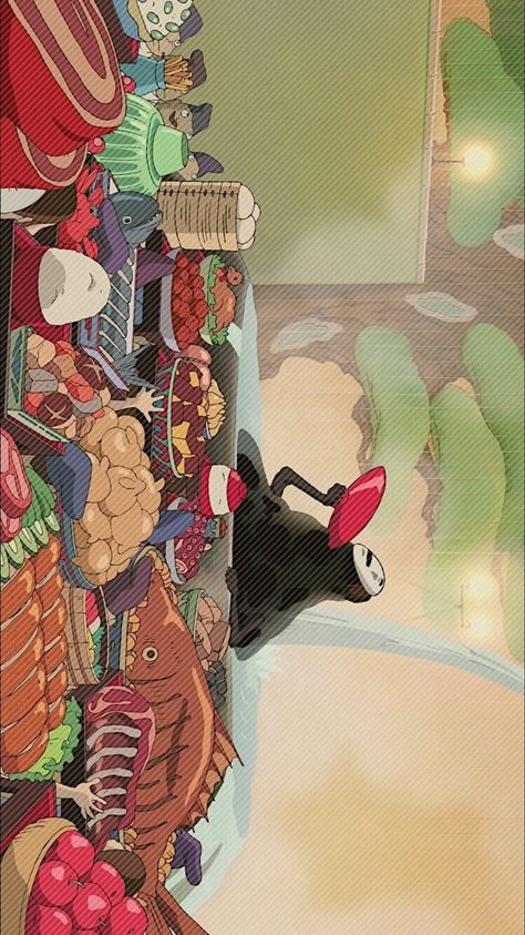 센과 치히로의 행방불명(2001) 배경화면