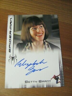 Ebay Ad Url Spider Man 3 2007 Movie Autograph Elizabeth Banks Betty Brant Upper Deck Zn In 2020 With Images Elizabeth Banks Cards Spiderman