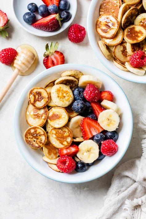 Banana Pancake Cereal (Mini Pancakes) - Skinnytaste