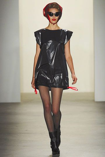 garbage bag dress by Jeremy Scott ss11: I'd be really tempted to wear that to a posh event