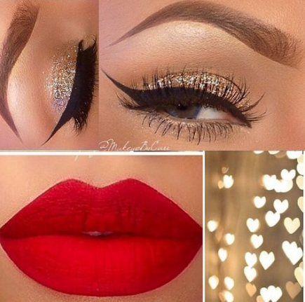 Red Dress Makeup Prom