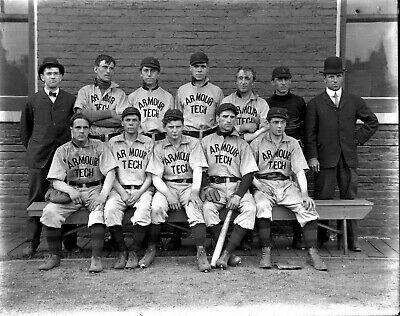 Ebay Sponsored B6244 8x10 Glass Negative 1910 Baseball Team Illinois Armour Institute Of Tech Baseball Team Teams Illinois