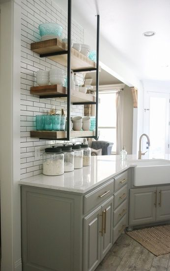 Love This Open Shelving I Built In My Kitchen It Lets Me Display