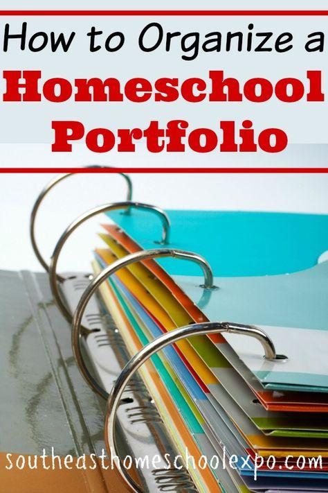 How to Organize a Homeschool Portfolio