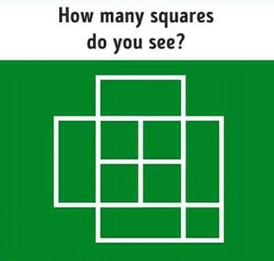 How Many Squares Do You See With Answer Whatsapp Puzzle With Answer Square Puzzle Puzzle Puzzle Funny Math Quotes Math Riddles Brain Teasers Maths Puzzles