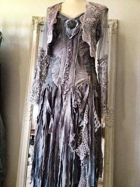 RAW RAGS one of a kind dress ripped cotton tulle by RAWRAGSbyPK