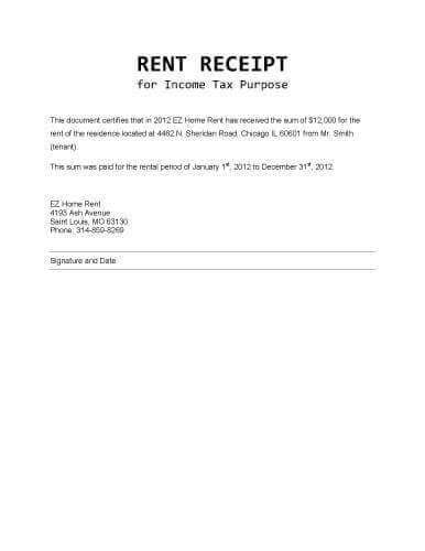Rent Receipt For Income Tax Purpose Receipt Template Receipt Invoice Template