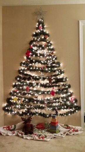 Curso Gratis De Como Hacer árbol De Navidad En La Pared Paso A Paso Muy Sencillo Wall Christmas Tree Easy Christmas Decorations Creative Christmas Trees