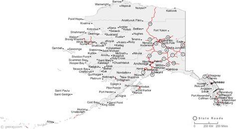 Map Of Alaska Cities Alaska Map Alaska Map