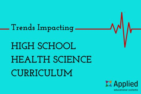How to Adapt to Trends Impacting High School Health Science Curriculum