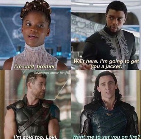 The great difference,so funny. #Blackpanther #thor #loki #marvel #Shuri