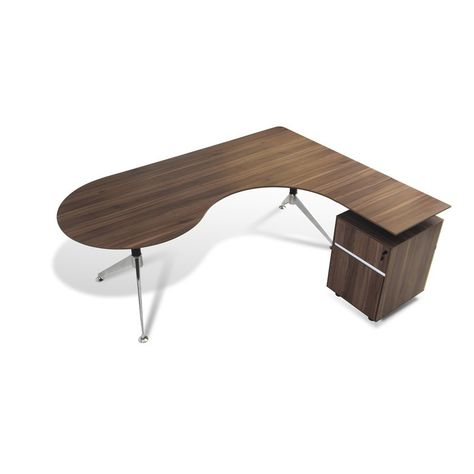 Manhattan Collection Teardrop L Shape Executive Desk Reviews Allmodern Modern L Shaped Desk L Shaped Desk L Shaped Executive Desk