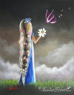 Rapunzel FINE ART PRINT children stories Pretty by shawnaerback, $10.00