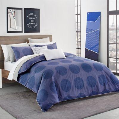 Lacoste Risoul Reversible Twin Twin Xl Comforter Set In Blue