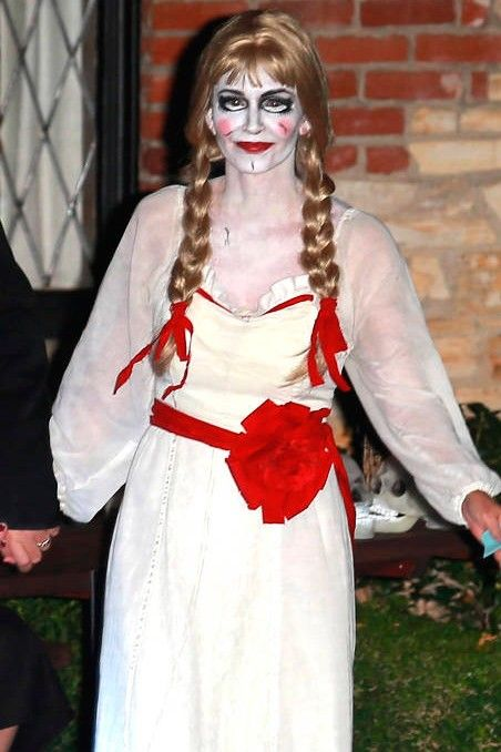 Annabelle doll makeup costume Halloween makeup Pinterest