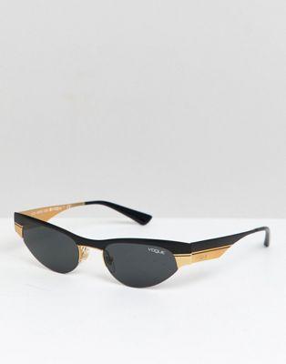 última selección de 2019 venta en línea sobornar auténtico Gafas de sol de ojos de gato con montura fina de Vogue x ...