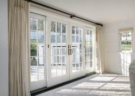 Rideaux Pour Portes Coulissantes En Verre En 2020 Porte Coulissante French Door Porte D Entree