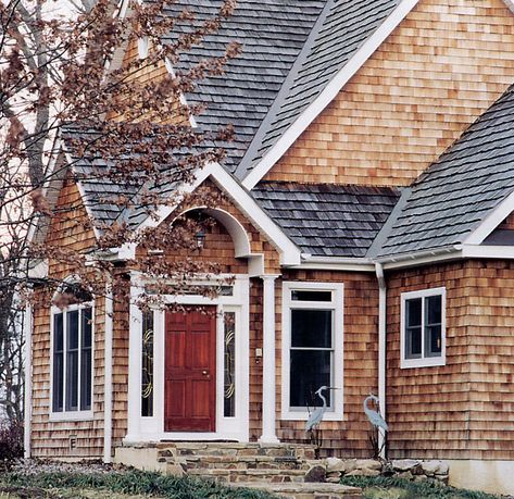 How To Stain Wood Siding Learning Center Cedar Shingle Siding Shingle House Shingle Siding