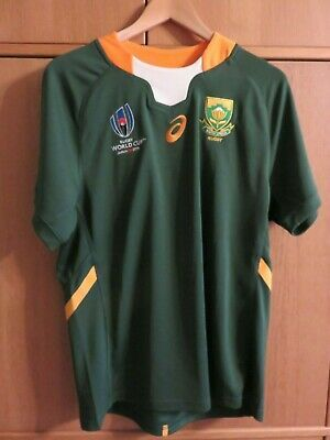 Asics South Africa Stronger Together World Cup 2019 Shirt M New Tags Box Fashion Sports Memorabilia Rugb In 2020 Shirts South Africa Rugby Promotional Shirts