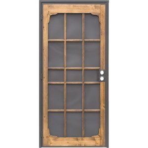 Incredible Security Door Awesome Description Steel Security Door Power Coated In Bronze With Matching 24 Steel Security Doors Security Screen Door Screen Door