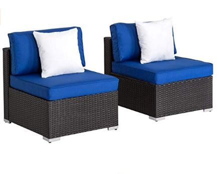 Outdoor Chair W Table Outdoor Loveseat Patio Furniture Sets Armless Sofa