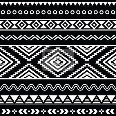Papier peint Vecteur populaire ornement aztèque sans couture, motif ethnique