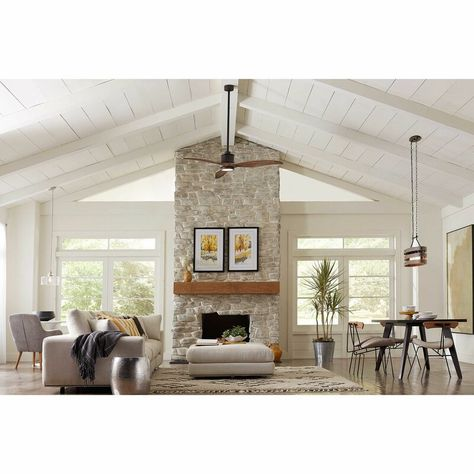 """Foundry Select 60"""" Bradfield LED Standard Ceiling Fan with Pull Chain and Light Kit Included & Reviews 