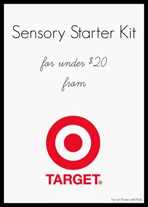 Sensory Starter Kit for under $20 from Target from Fun at Home with Kids