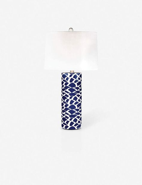 An Abstract Sketch On Deep Blue Creates An Artistic Pattern On The Base Of This Lamp The Perfect Way To Add A Colorful Glow To Led Table Lamp Table Lamp Lamp