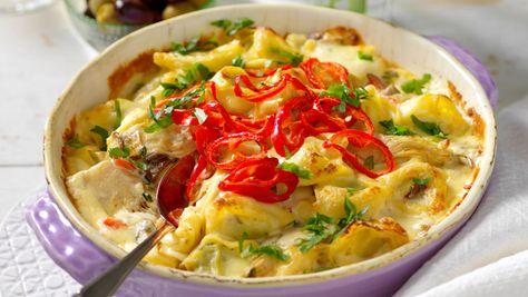 Tortellinigratang Med Skogschampinjoner Mat Recept Och Tortellini