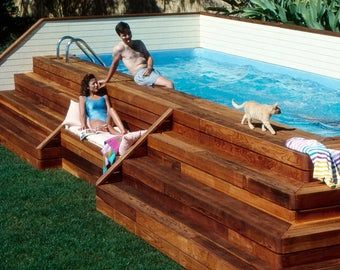 Lap Pool And Deck Plans Diy In Ground Pool Build Your Own Lap Etsy Diy In Ground Pool Build Your Own Pool Deck Plans Diy